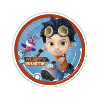 Rusty Rivets kageprint - Rusty og whirley