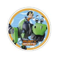Rusty Rivets kageprint - Rusty og Botasaur