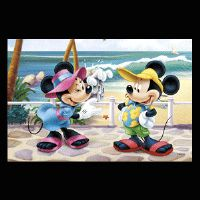 Disney kage print - Mickey og Minnie Mouse