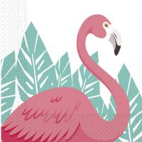 Flamingo servietter - 20 stk