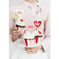 Cupcake wrap - 6 stk - sweet love