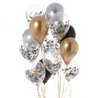 Ballon med konfetti - Glitz and glam - 5 stk