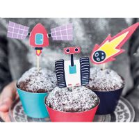 Space cupcake kit - 6 stk