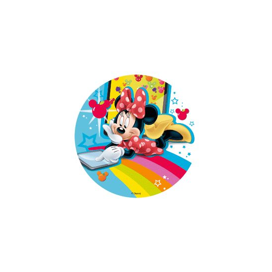 Kageprint med Minnie Mouse - 18,5cm