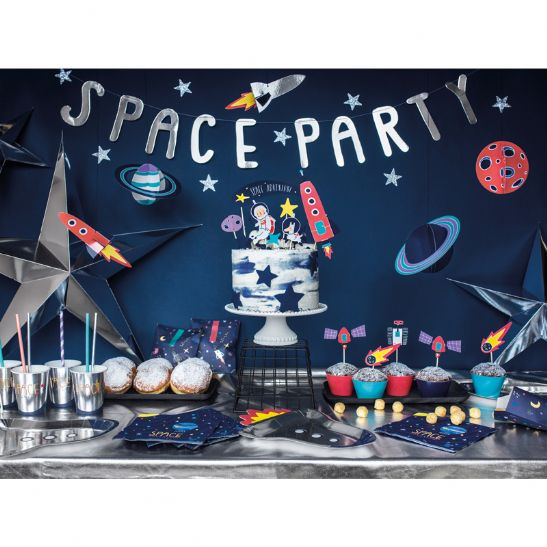 Banner - space party - 13x96cm